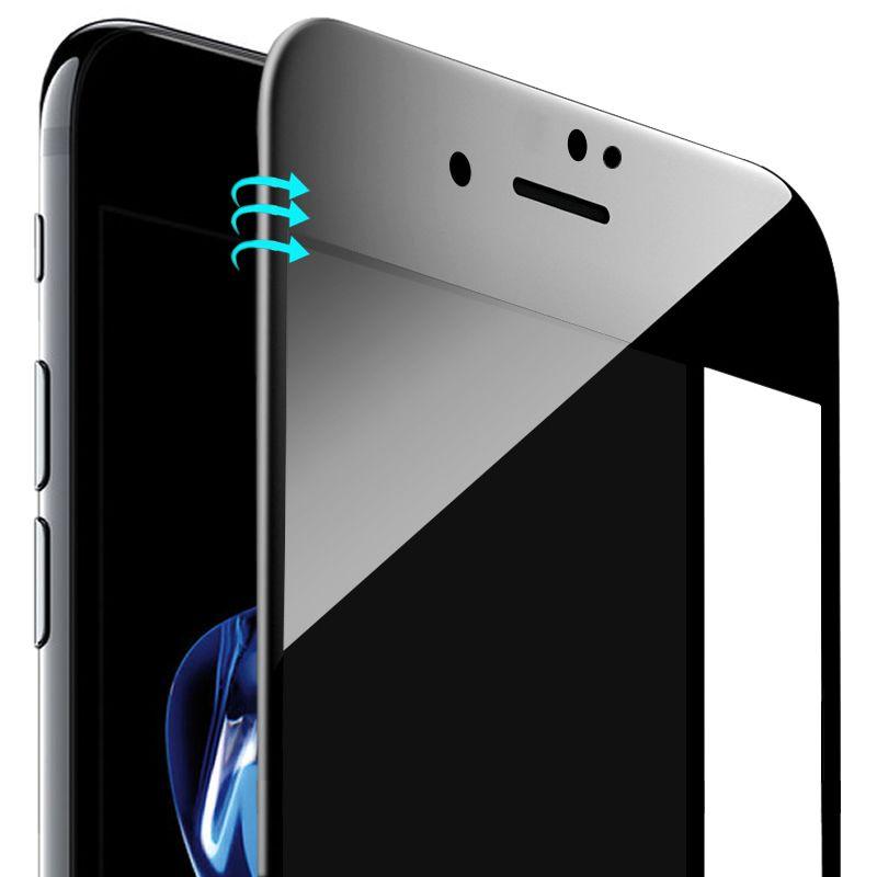Pour iPhone 7 6 6 s protecteur d'écran en verre trempé couverture complète 3D bord incurvé Film de verre pour Apple iPhone 7 Plus Protection d'écran