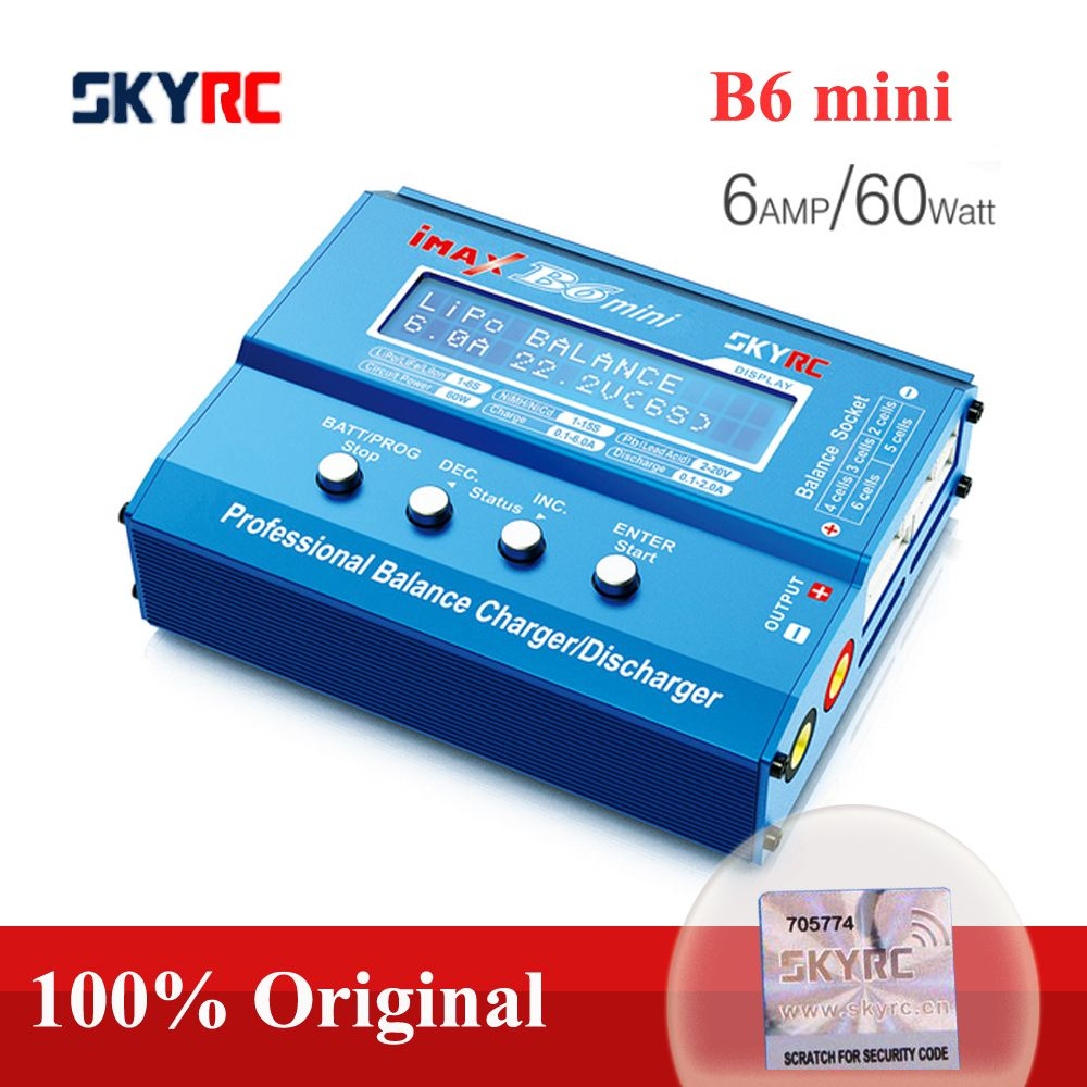 Original SKYRC IMAX B6 MINI Balance Charger-Discharger For RC Helicopter Re-peak NIMH/NICD Aircraft+Power Adpater(optional)