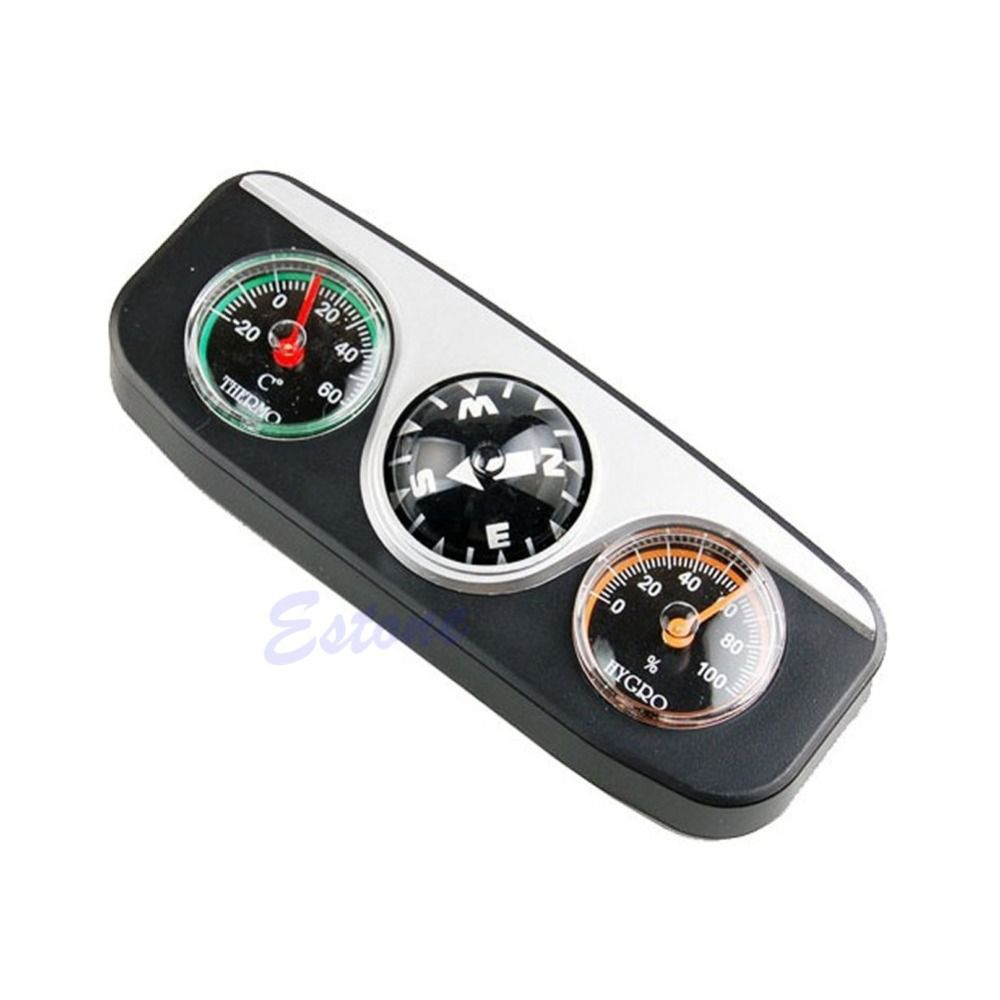 3in1 Guide Ball Auto Boot Fahrzeuge Auto Navigation Kompass Thermometer Hygrometer