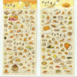 1Sheet Kawaii Yellow Lazy Egg Gudetama PVC Stickers Scrapbooking Daily Stationery School Supplies Sticker M0276