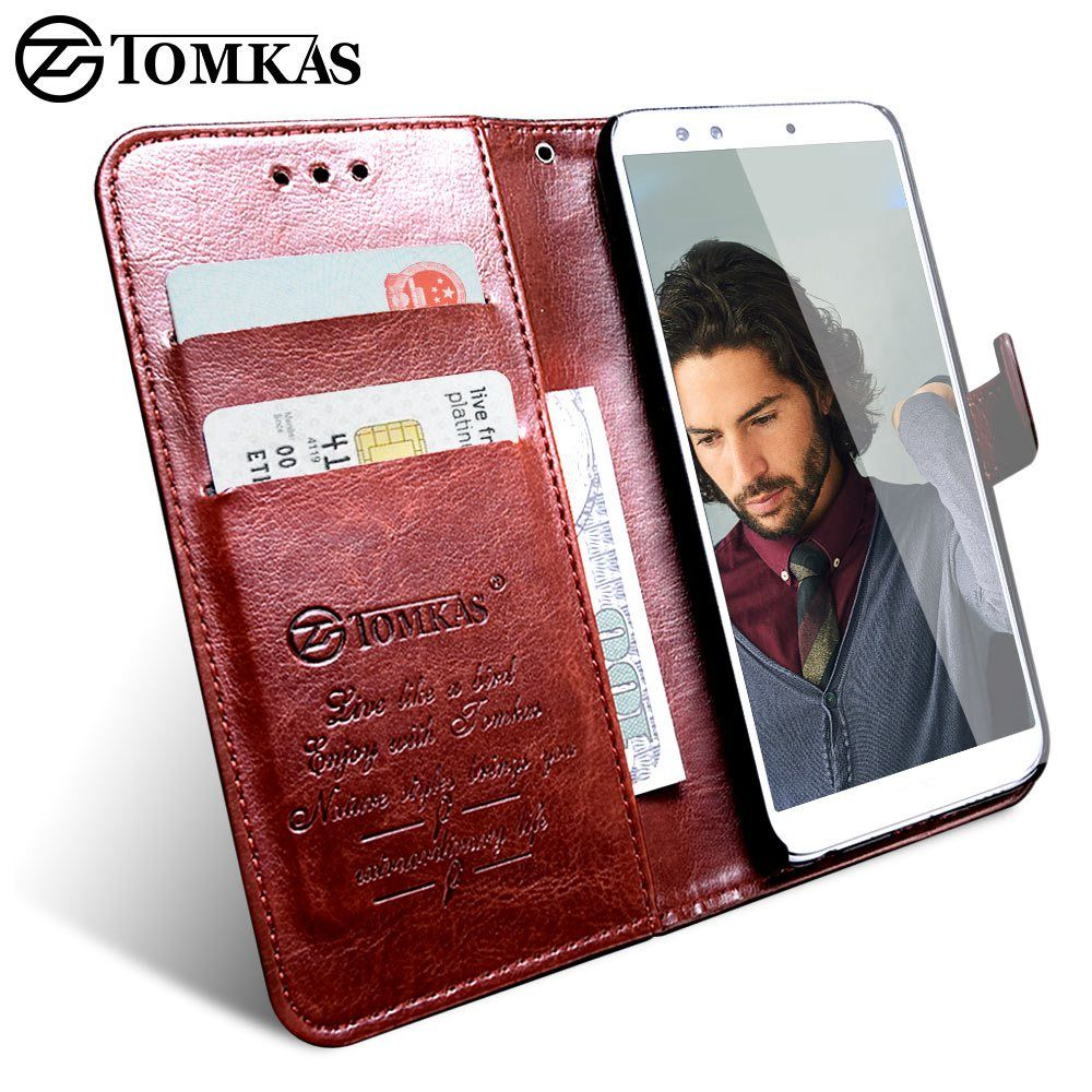 TOMKAS Wallet Case For Huawei Honor 9 Lite Cover On Luxury Retro PU Leather Flip Phone Case For Huawei Honor 10 Cases Covers On