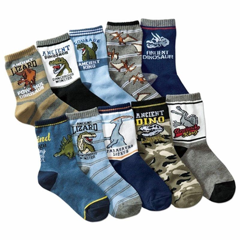 10 paires/lot enfants 4-12 ans enfants chaussettes de coton de dessin animé enfant garçons chaussettes de haute qualité