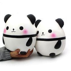 Ukuran Besar Panda Licin Mainan Squeeze Lucu Kreativitas Squishie Abrasive Sponge Stres Pereda Bercanda Dekompresi Squishies Mainan