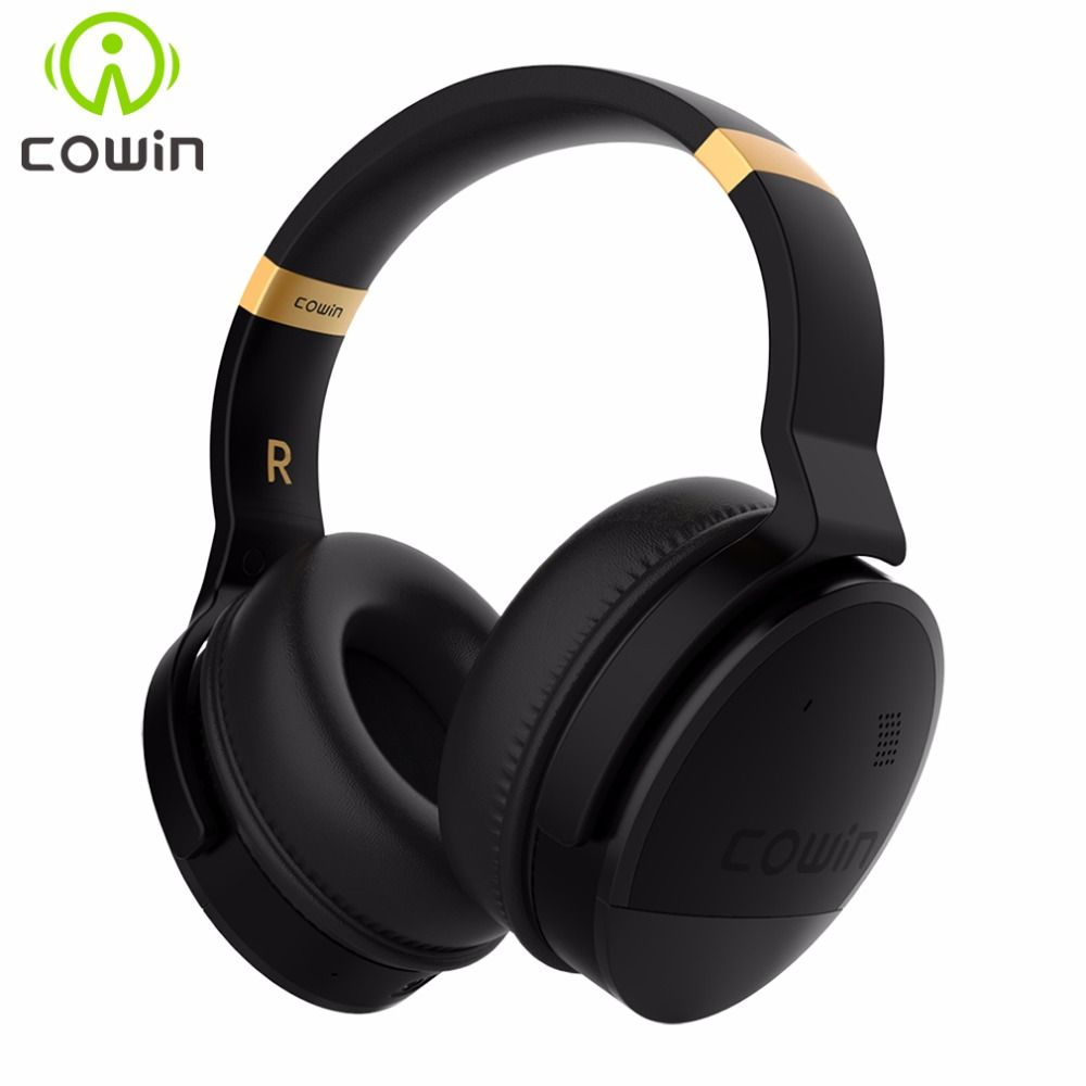 COWIN E8 Active Noise Cancelling Bluetooth Headphones with Mic Hi-Fi Deep Bass Wireless Headphones Over Ear <font><b>Stereo</b></font> Sound Headset