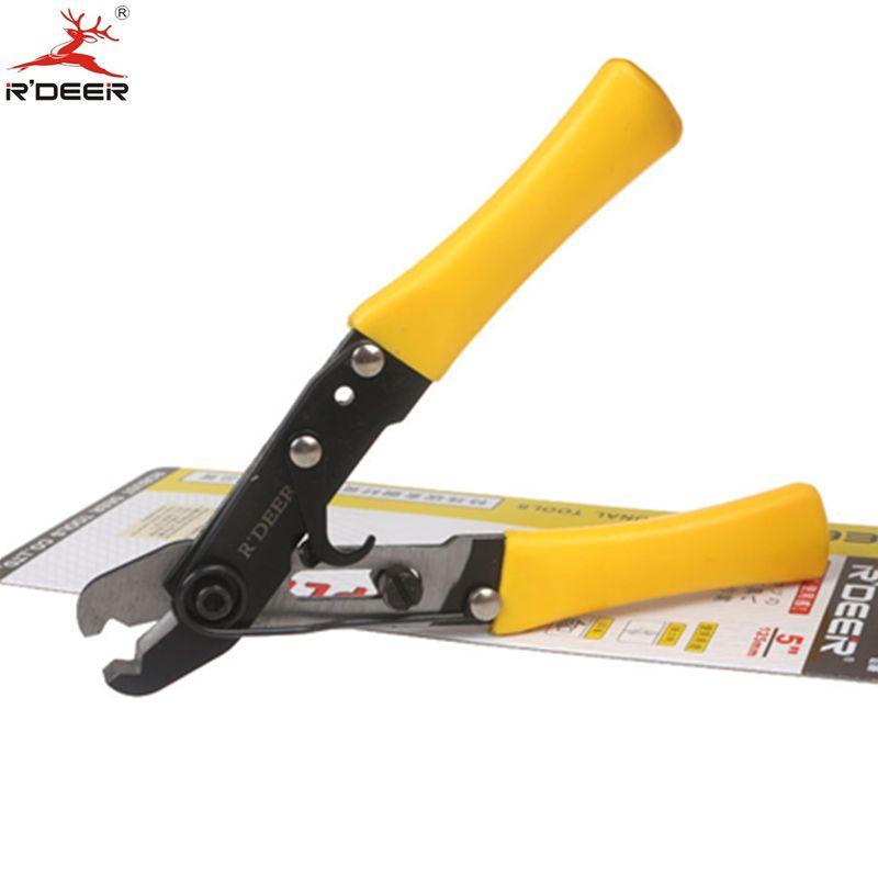 RDEER 5 ''/125mm Einlochmontage Abisolierzange Einstellbare Verdicken Schneiden Zange Crimpzange Durable Handwerkzeuge