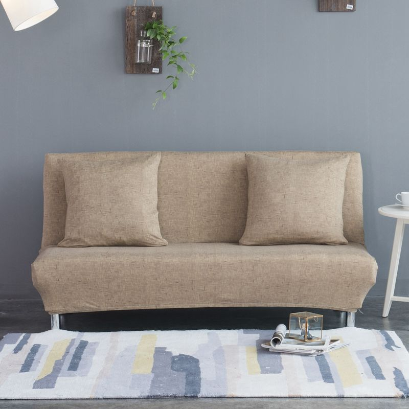 Elastic Stretch Sofa Cover No Armrest All-inclusive Slip-resistant Slipcovers for Couch Folding Sofa Bed Cover Solid Sofa Towel