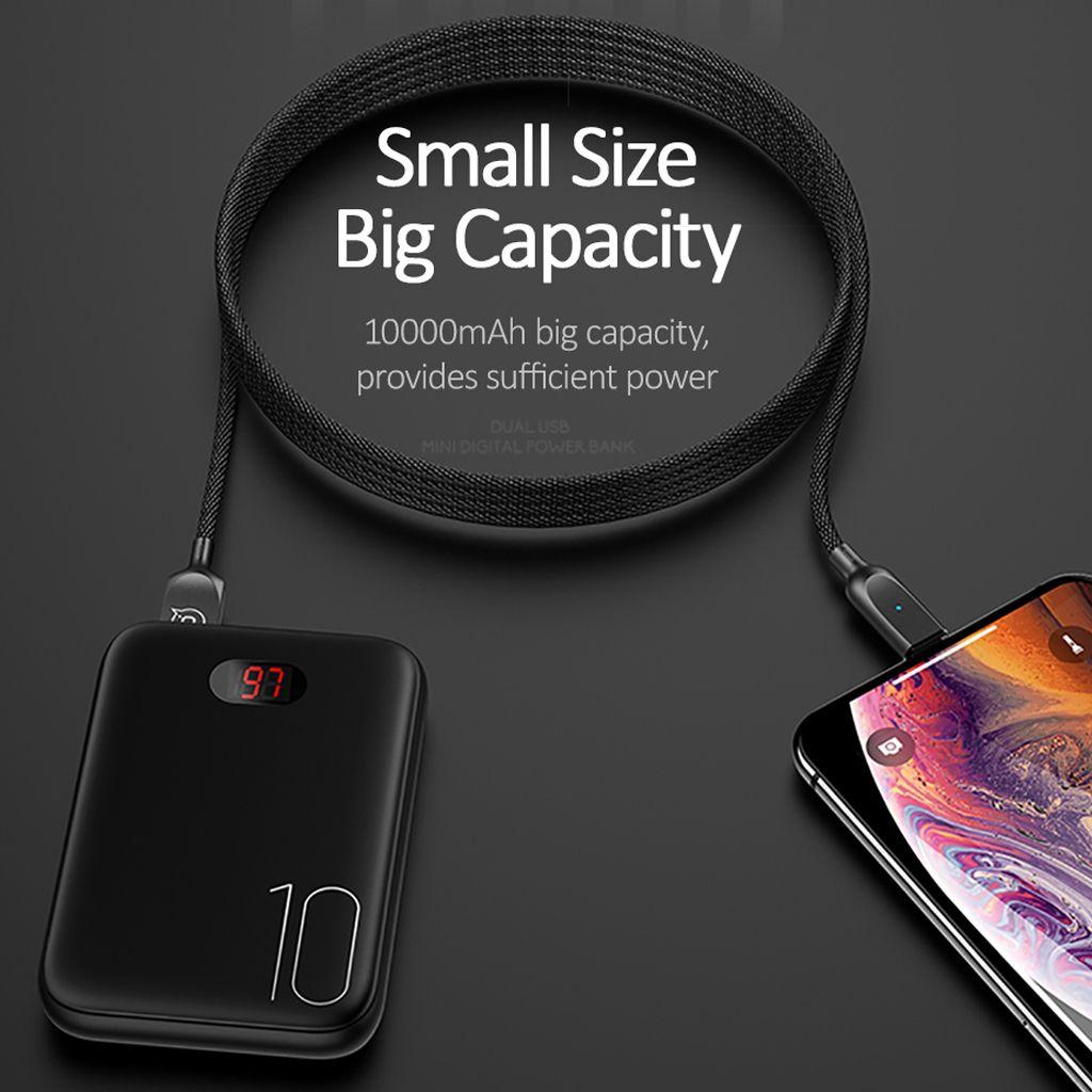 Batterie externe pour xiaomi mi iPhone, USAMS mi ni Povre Banque 10000mAh LED Affichage Batterie Externe Powerbank Poverbank charge Rapide