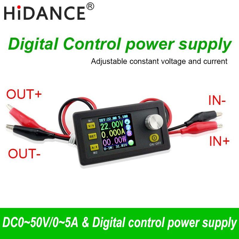 50 V 5A 250 W LCD convertisseur réglable tension mètre régulateur Programmable Module d'alimentation voltmètre ampèremètre testeur de courant