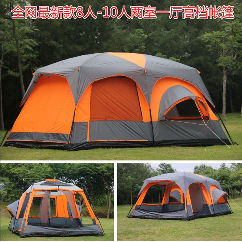 2018 auf verkauf 6 8 10 12 person 2 schlafzimmer 1 wohnzimmer zimmer vorzeltsonnendach party familie wandern strand angeln outdoor camping zelt