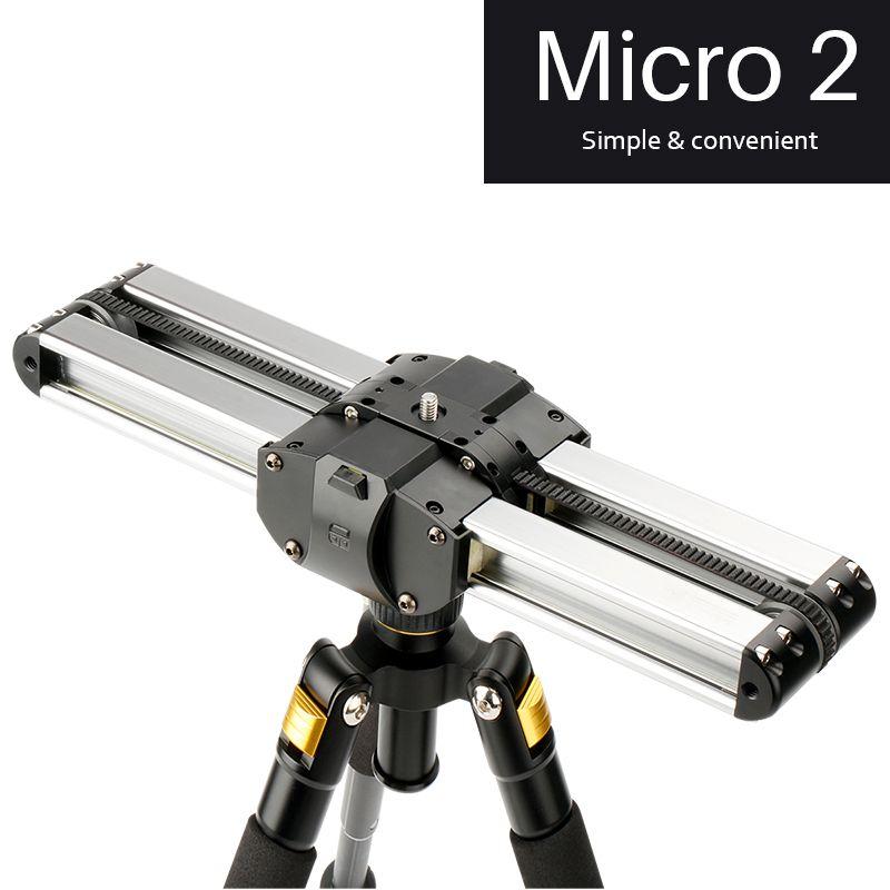 Updated Micro 2 Professional Camera Video Slider 33cm Macro Travel Track Slider Dolly Track Rail for DSLR/ARRI Mini/RED/BMCC