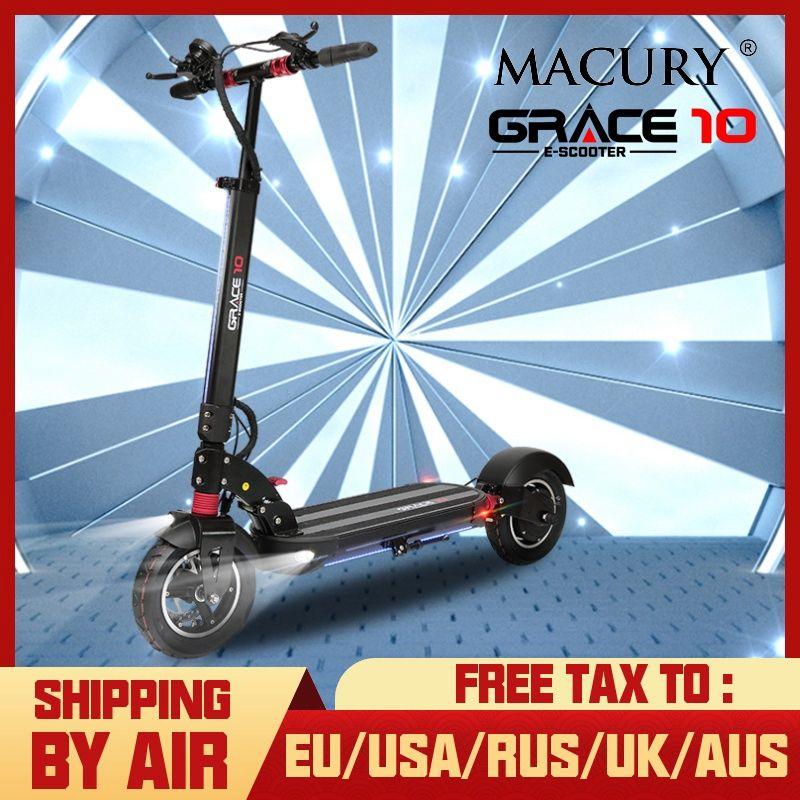 Macury GRACE10 elektrische roller GNADE 10 hoverboard skateboard 2 rad 10 zoll 52V1000W erwachsene Null 10 mini faltbare ZERO10