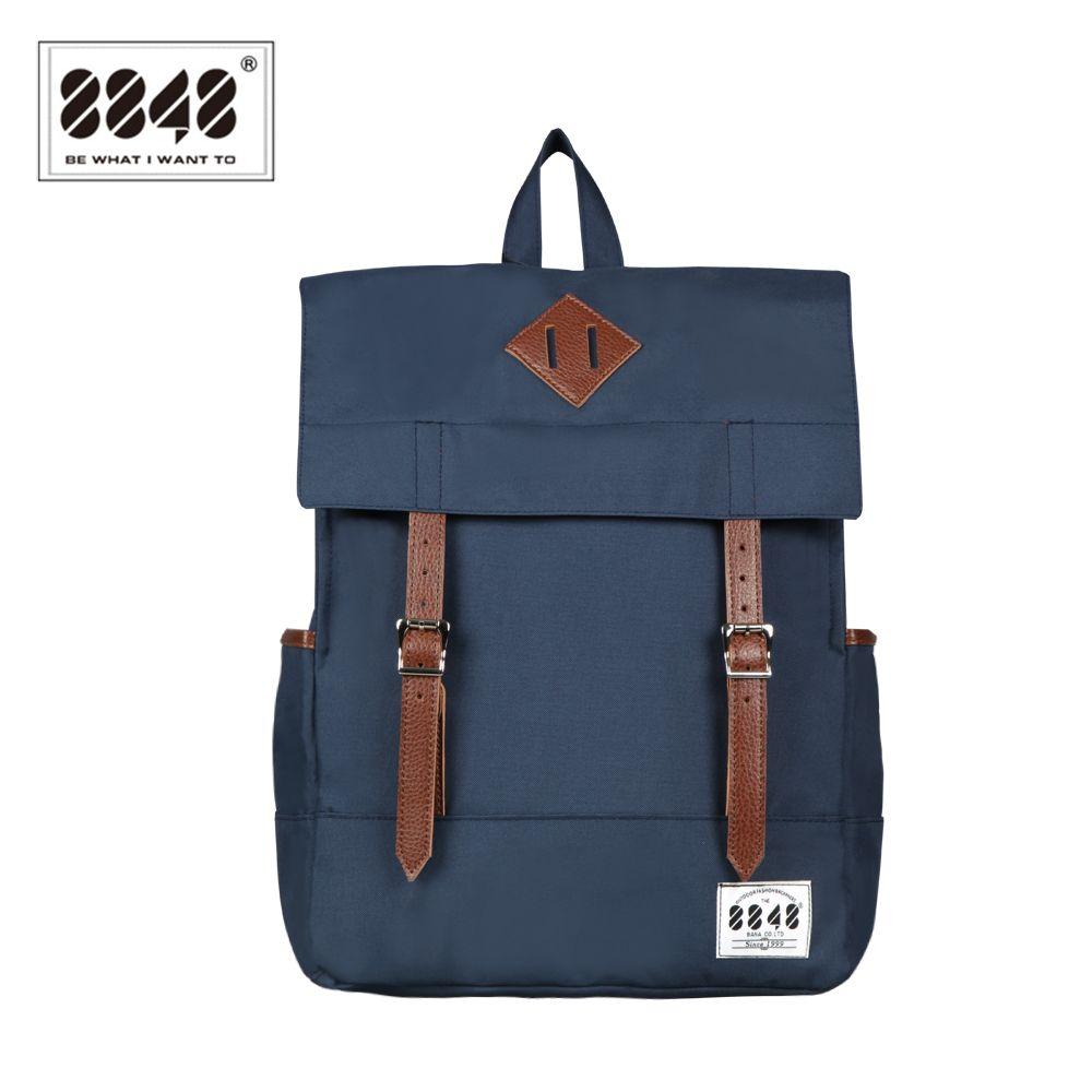 8848 De Mode Femmes sac à dos en toile Bleu sacs d'écolier imperméable à l'eau 15.6 pouces Ordinateur Portable Sac À Dos Adolescent École Bagpack Mochila D002-1