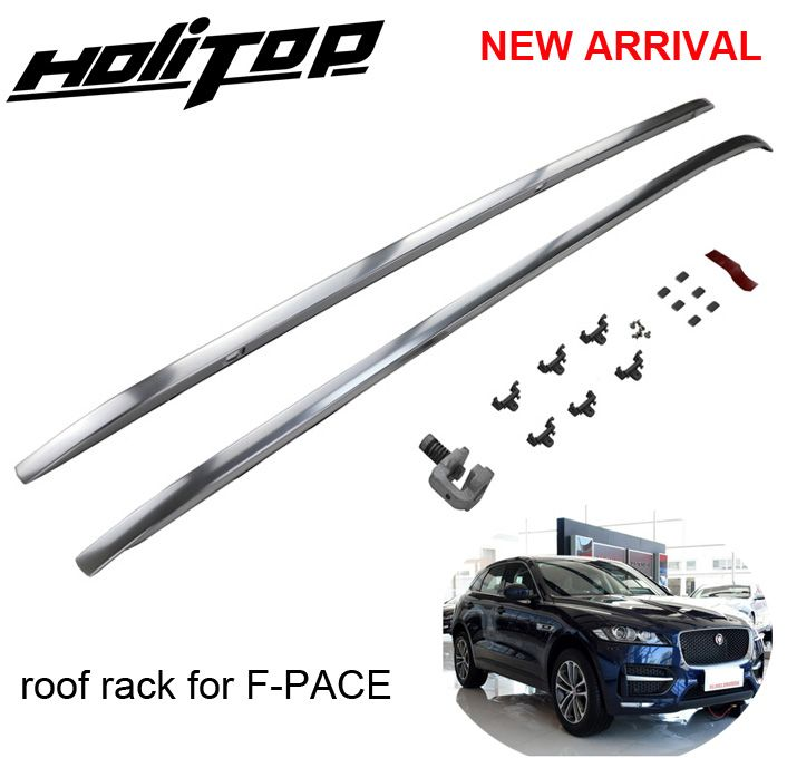Hottest for Jaguar F-PACE F pace roof rack roof rail roof bar,installed by screws instead of glue,HITOP 5years SUV experiences