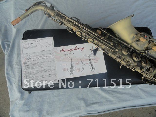 Custom Instruments Grind Arenaceous Bronze Archaize Alto Saxophone Eb Tune Sax Hand Carved With Case Mouthpiece