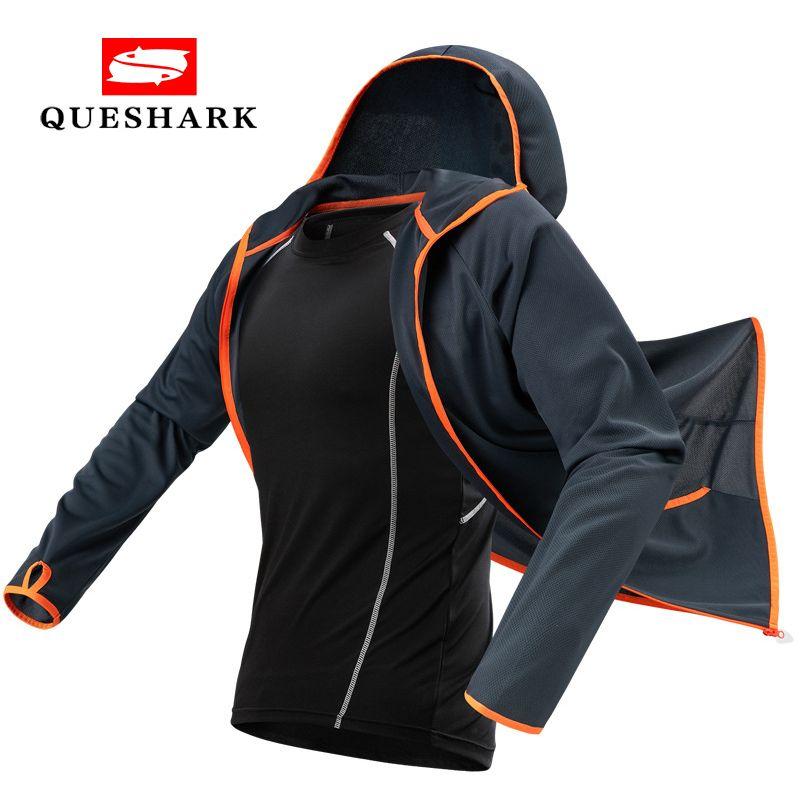 Queshark Tech veste de pêche Antifouling hydrophobe vêtements de pêche imperméables vêtements de pêcheur randonnée veste de cyclisme à capuche