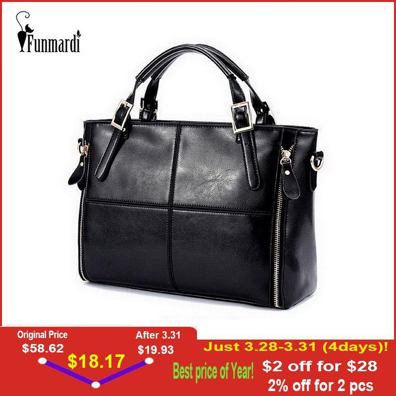 FUNMARDI sacs à main de luxe sacs pour femmes Concepteur De Split sacs en cuirs sac à main des femmes Marque Haut-poignée de sacs Femme sacs à bandoulière WLHB974