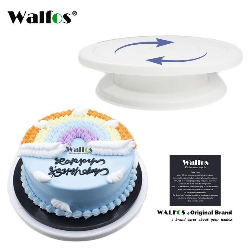 WALFOS outils de décoration de gâteau support de gâteau platines de décoration support de plate-forme support de Cupcake gâteau plaques pivotantes outils