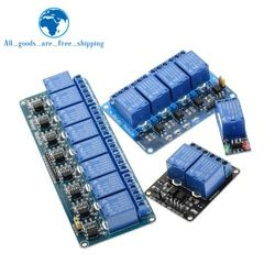 TZT 1pcs 5v 12v 1 2 4 8 channel relay module with optocoupler. Relay Output 1 2 4 8 way relay module for arduino In stock