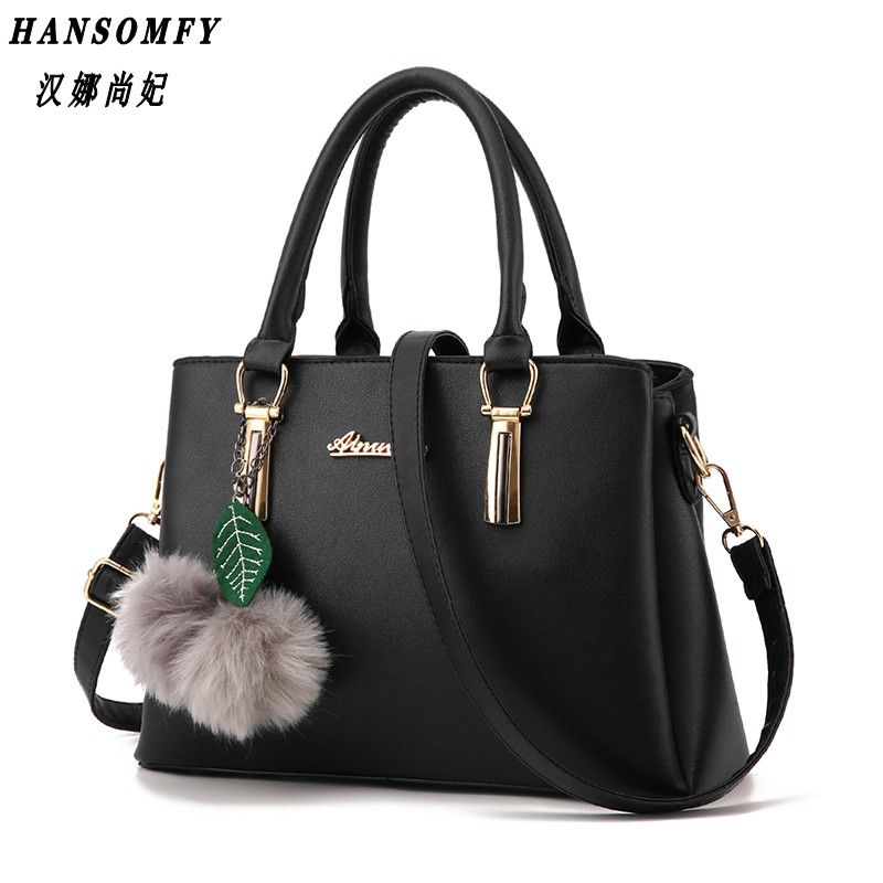 100% Genuine leather Women handbags 2018 New fashion embossed shoulder bags of western style air bag messenger bags tote