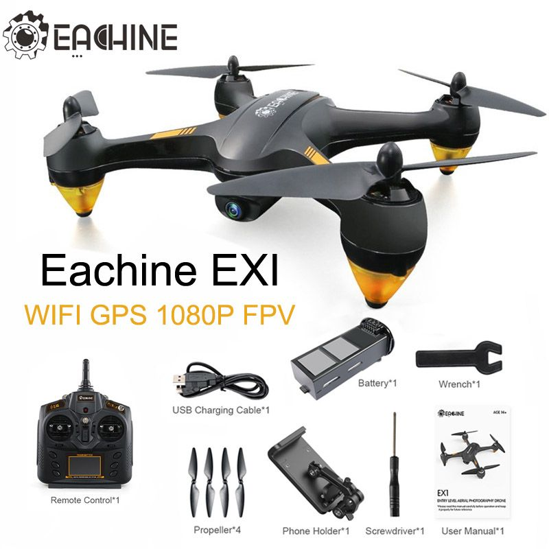 Eachine EX1 Brushless Doppel GPS WIFI FPV Mit 1080 P HD Kamera Drone RC Quadcopter RTF VS Hubsan H501S X4 Pro AIR H501A