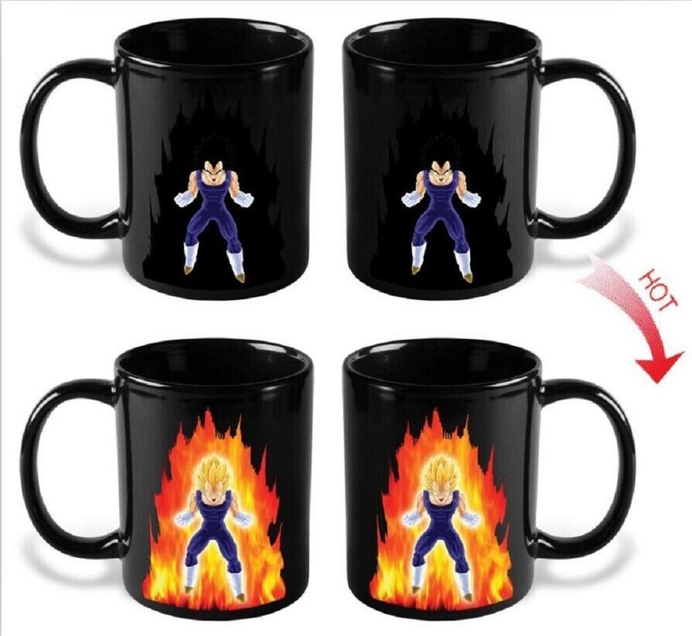 Dragon Ball Z SON Goku Coffee Cup Mug Hot Changing Color Copo Heat Reactive Super Saiyan Tea Milk Breakfast Drinkware Ceramic
