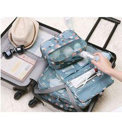Plegable plegable de viaje colgar lavado Gargle bolsas cubos de embalaje impresión viajes organizador reis cubo bolsa de lona bolsa de viaje