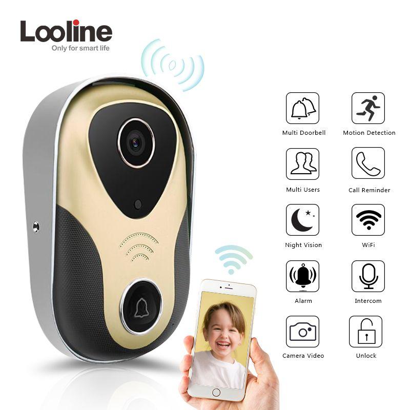 Video Intercom Door Phone Door Viewer Video Call Looline 720P HD IP Doorbell Support POE Video Portero Wifi Doorbell Camera