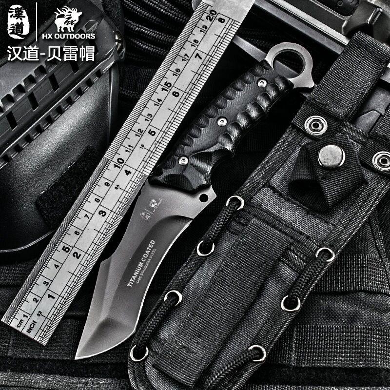 Hx freien hochwertigen taktisches messer multitool oberfläche überzogen titanium fest schwarz messer camping werkzeug überleben jagd messer