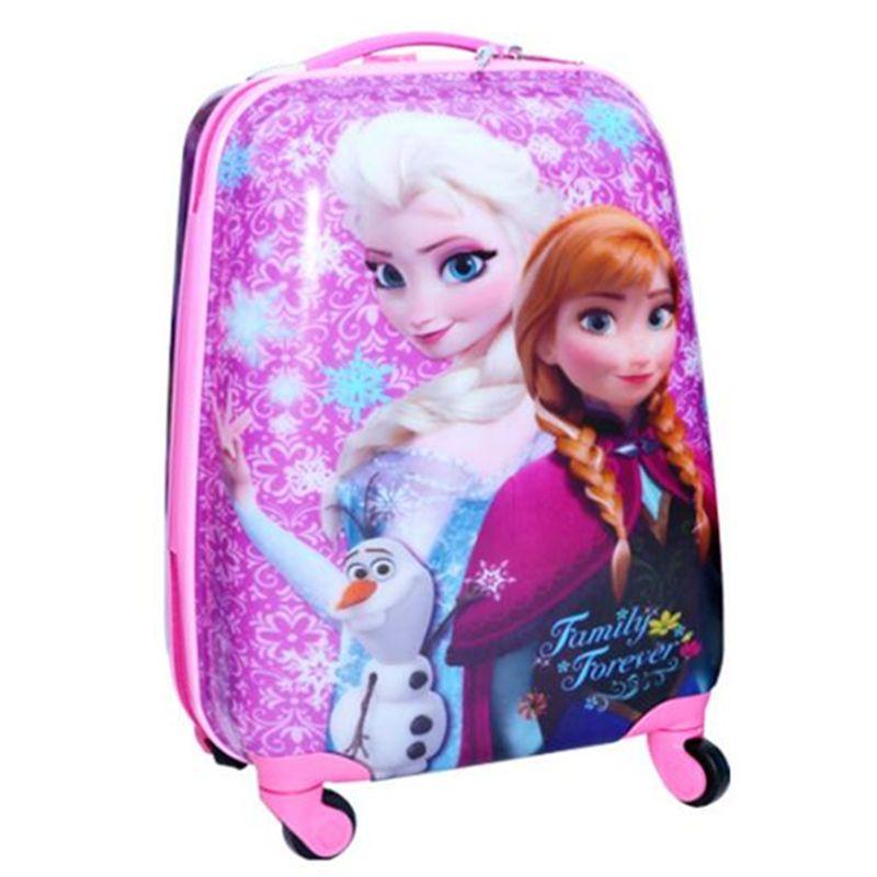 Kids Printing films Travel Luggage spiderman 3D stereo Pull rod box cartoon children box princess girls suitcase Boarding box
