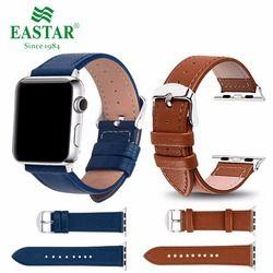 Eastar 3 Cor Venda Quente Faixa de Relógio Pulseira De Couro para A Apple Series 3/2/1 Esporte Pulseira 42mm 38mm 4 Banda Cinta Para iwatch