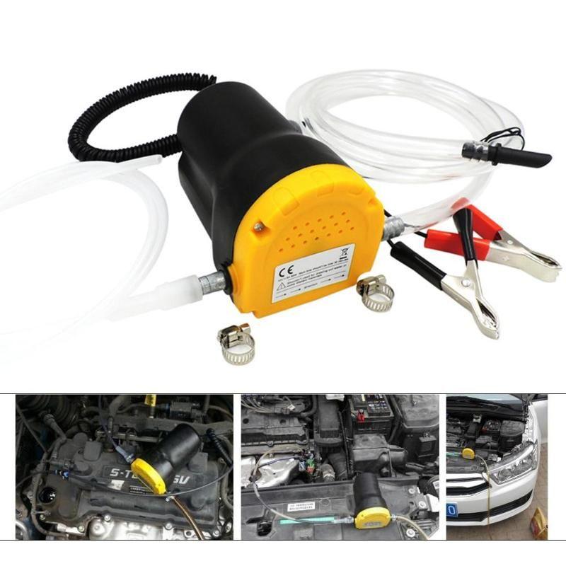 Neue 12/24 v 60 watt Zink-legierung Auto Elektrische Tauch Pumpe Flüssigkeit Öl Ablauf Extractor für RV Boot lkw + Rohre Lkw Rv Boot