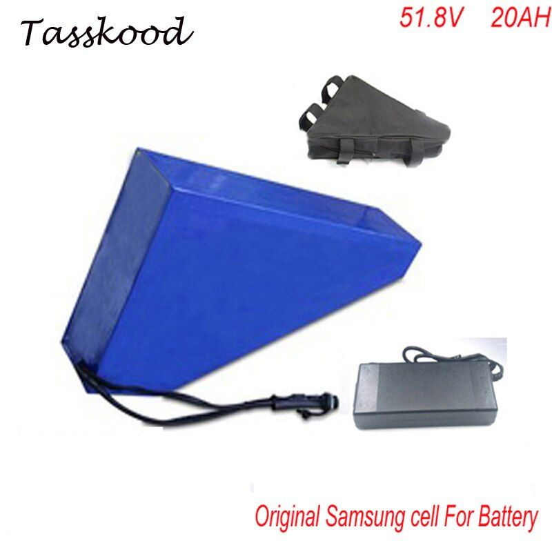 triangle Samsung lithium battery 51.8V 20Ah electric bike battery 52V 1000W 20ah electric scooter battery