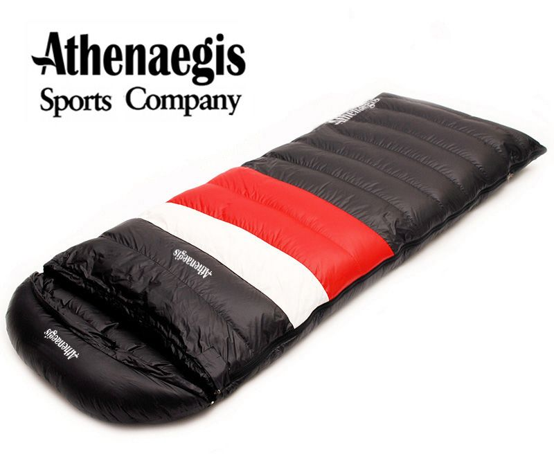 Athenaegis Ultra-light white goose down 2200g/2500g/2800g/3000g filling can spliced envelope breathable thickening sleeping bag