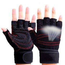 TININE 2018 Fitness Gym Outdoor Sports Hot Motorcycle Gloves Men Women Guantes Half Finger RED Black Breathable Tactical Gloves