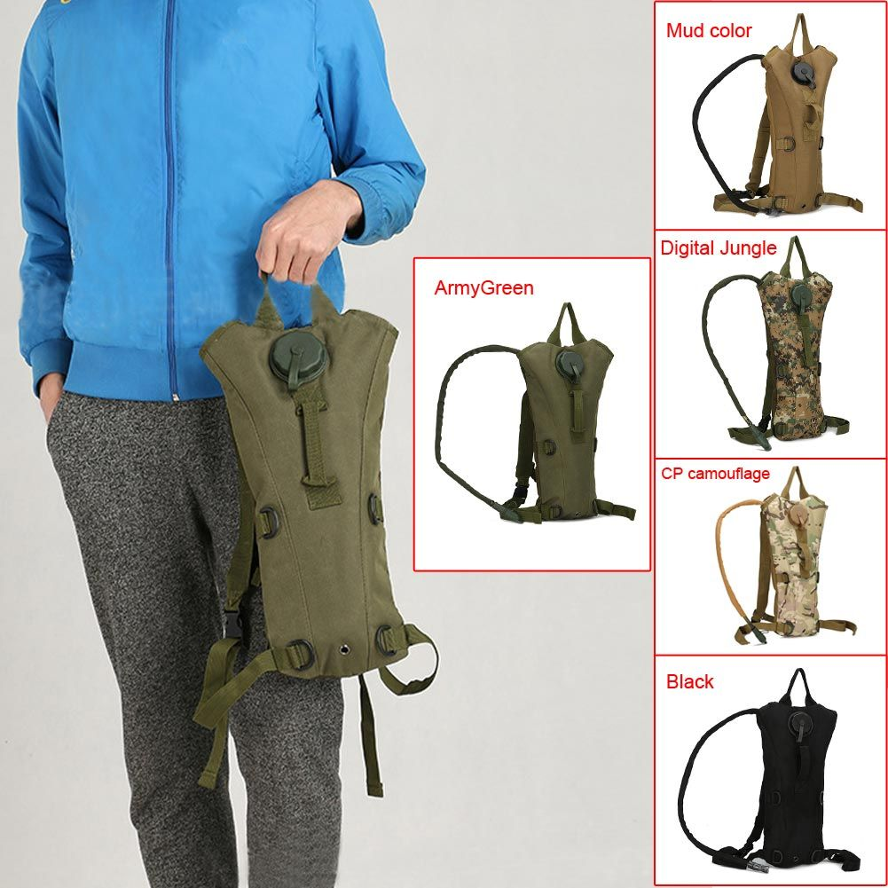 Outdoor Camping 3L Water Bag Molle Military Tactical Hydration Backpack Water Bag Liner Camelback Nylon Camel Water Bladder Bag