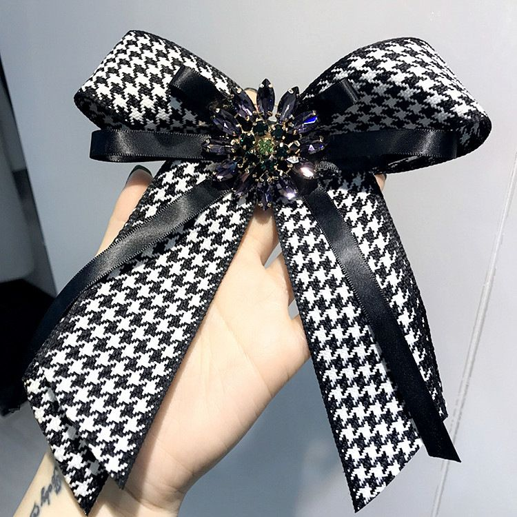 Women Bow Brooches Pins Ribbon Trendy Broches Jewelry Bowknot Brooch Vintage Collar Pin Corsage Shirt Dress Jewelry Necktie