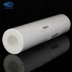 5 micras filtro de agua blanco purificador de agua 10 pulgadas cartucho de ósmosis inversa Ro. sedimentos PP algodón óxido eliminación de partículas