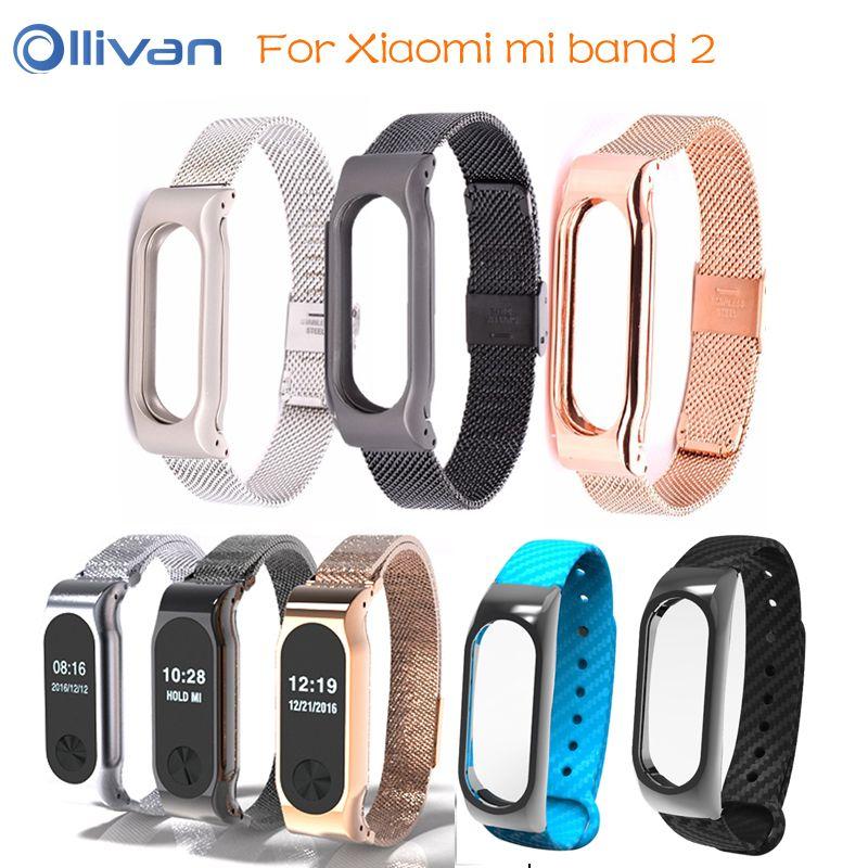 Metallband Für Xiaomi Mi Band 2 Straps Schraubenlose Edelstahl stahl Armband für Smart armband Ersetzen Zubehör Für Mi Band 2