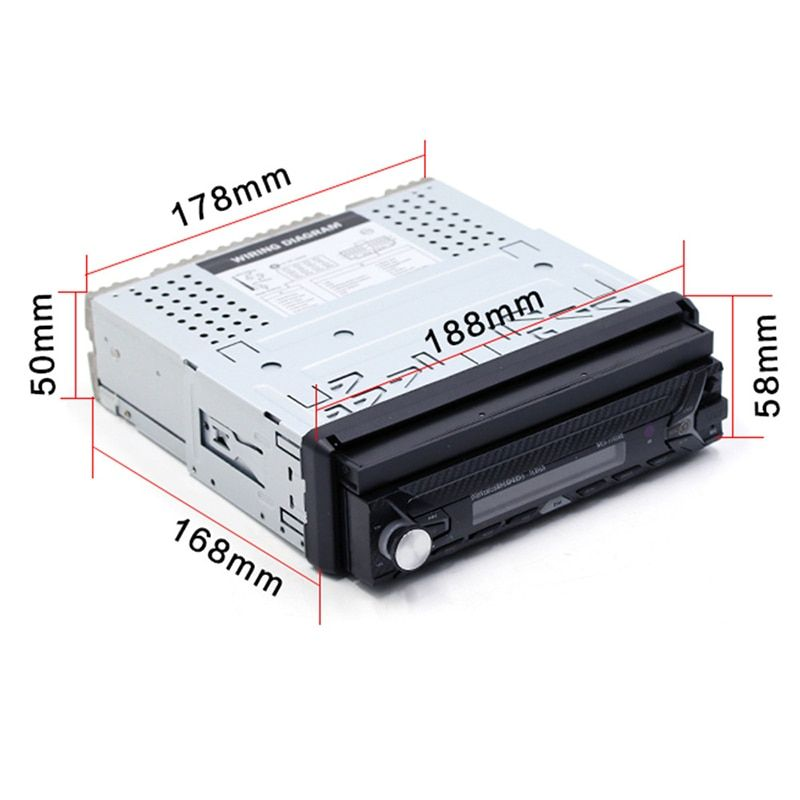 7 Inch Single Car MP5 2018 Auto High Definition Reversing Rear View Bluetooth MP3 Card Radio Instead of Car CD Player DVD Player