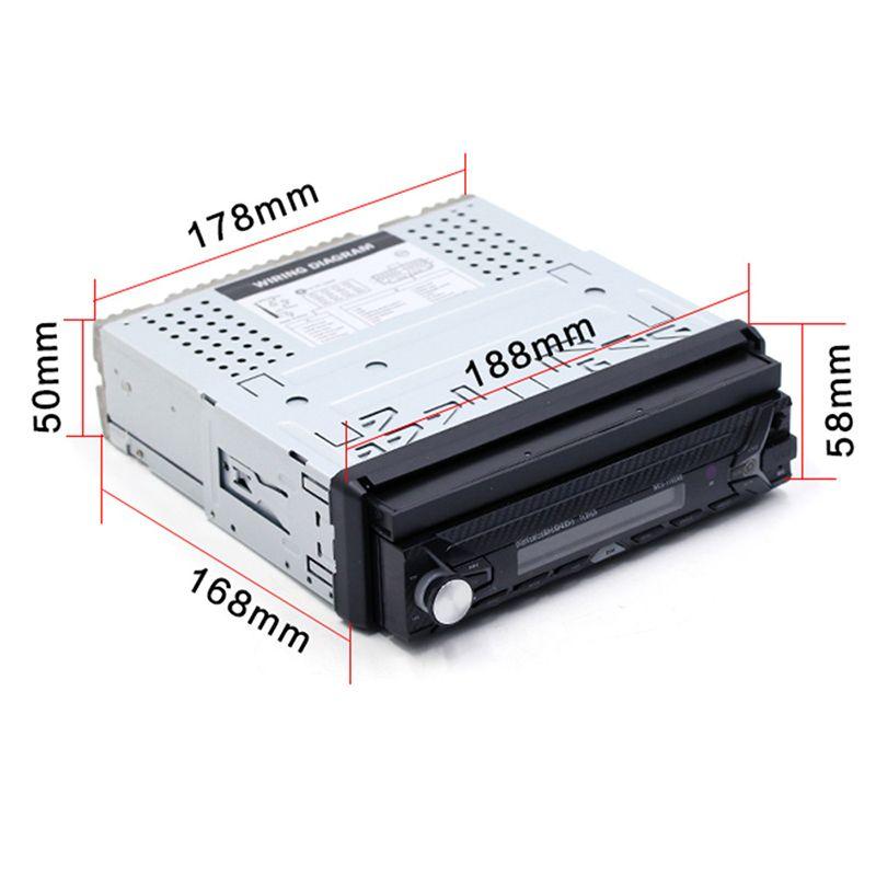 7 zoll Einzelnen Auto MP5 2018 Auto High Definition Rückansicht Umkehr Bluetooth MP3 Karte Radio Anstelle von Auto CD player DVD Player