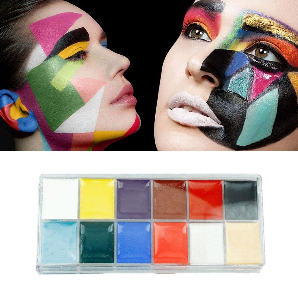 Hot 12 Colors Body Face Paint Makeup Painting Pigment Multicolor Series Body Art  Oct 27