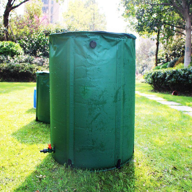 100L pluie baril pliable eau de pluie récolte réservoir d'eau jardin PVC pliable pluie collecte réservoir d'eau conteneur avec ruissellement
