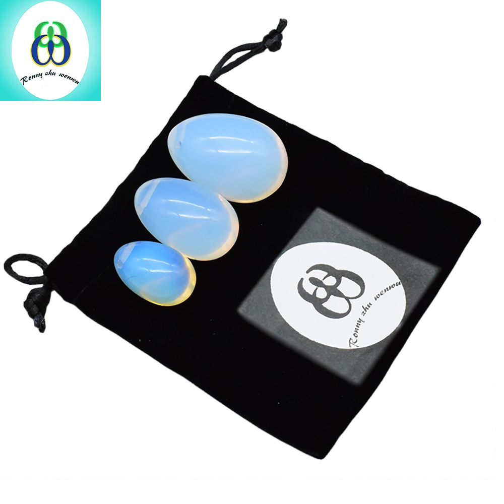 3pcs Yoni Egg Opalite Ben Wa Ball Kegel <font><b>Jade</b></font> Eggs for Women Kegel Exercises Tightening Vaginal Balls Muscle Massage Health Care