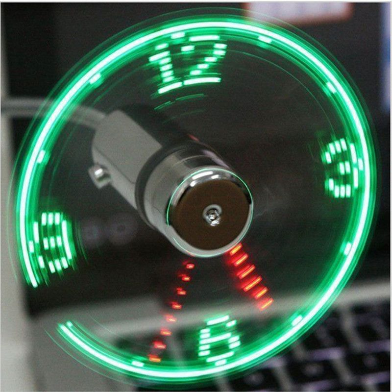 Mini USB Fan gadgets Flexible Gooseneck LED Clock Cool For laptop PC Notebook Time Display high quality durable Adjustable