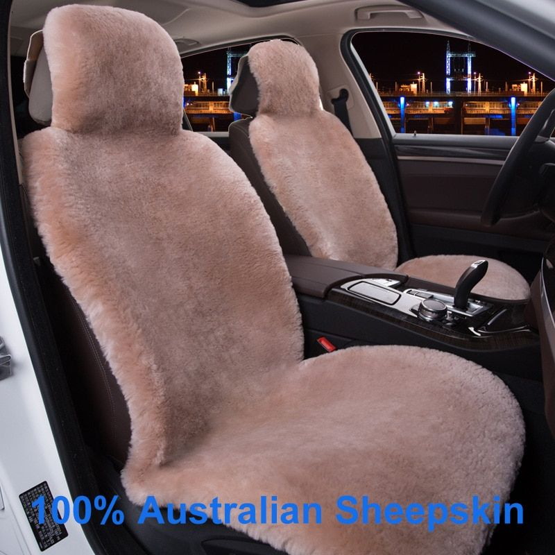 KAWOSEN 100% Real Whole Sheepskin Cashmere Car Seat Cover,Super Warm Fur Car Seat Cushion,Wholesale High Quality car seat WSCP01