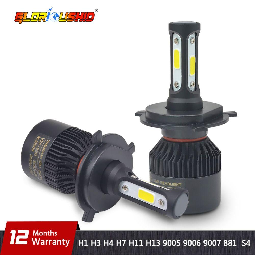 H7 LED H4 H11 H8 H9 H1 H3 H13 9005 HB3 9006 HB4 <font><b>9007</b></font> 881 Car LED Headlight 72W 8000LM Auto light Fog Lamp Bulb 6500k Pure White