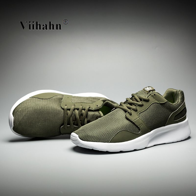 Viihahn Mens Running Shoes 2017 Breathable Mesh Lace Up Trainer Walking Shoes Outdoor Athletic Sport Sneakers for Men Size 40-46