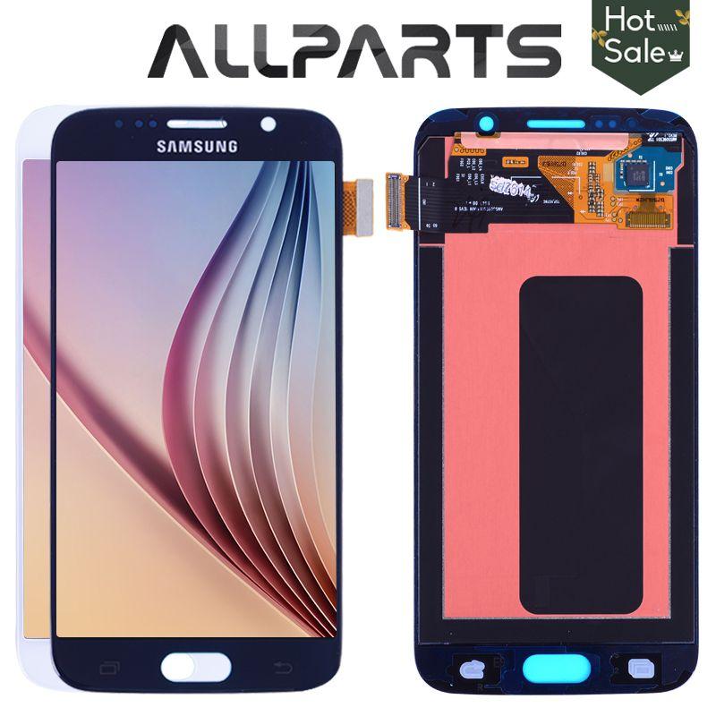 Original 5,1 ''Super AMOLED LCD für SAMSUNG Galaxy S6 LCD Display G920 SM-G920F G920F G920FD Touchscreen Digitizer Ersetzen