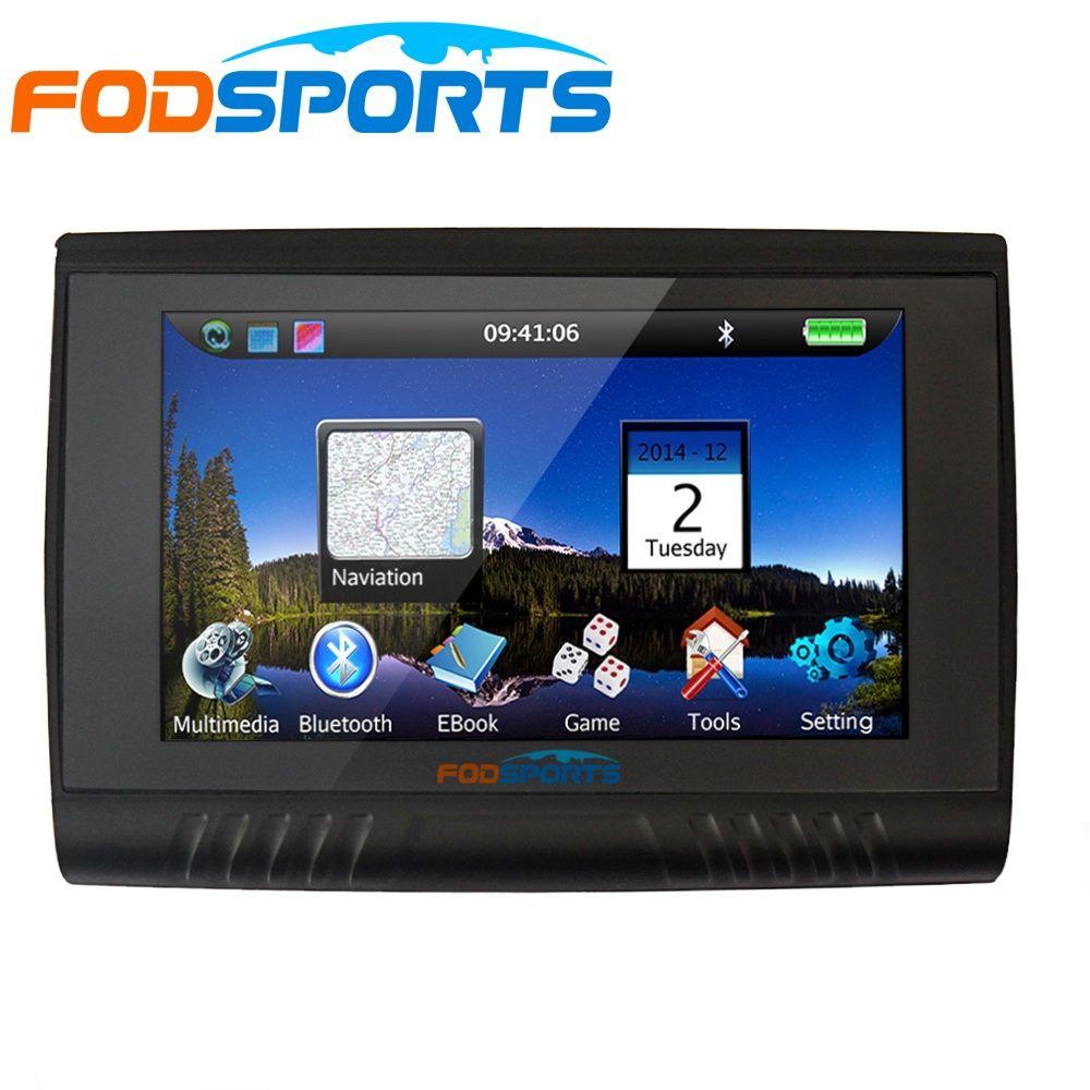 RU на складе, обновленная версия 5.0 дюймов 256 МБ Оперативная память 8 ГБ Водонепроницаемый мотоцикл Bluetooth GPS навигации + бесплатная Карты для бо...