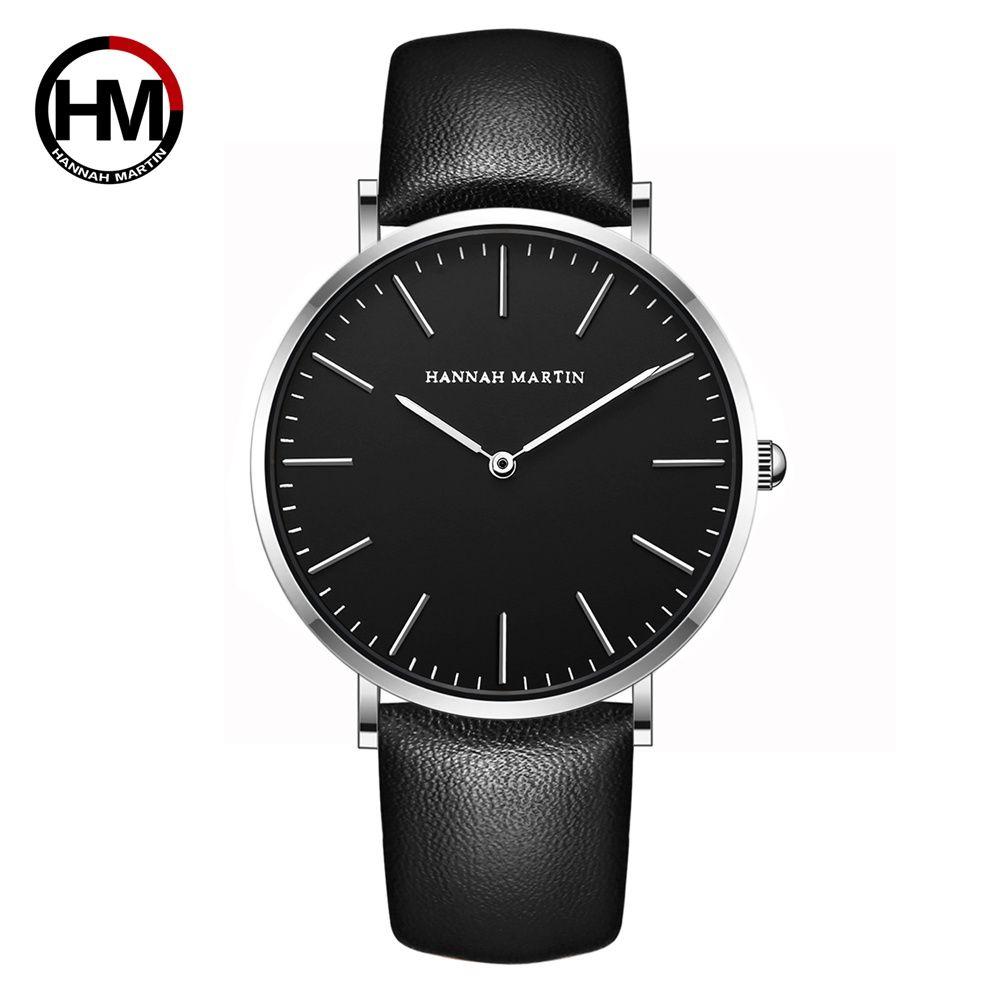 New Japan Quartz Men Wristwatch Fashion Top Luxury Brand Sport Casual Waterproof Watches Genuine Leather Male relogio masculino
